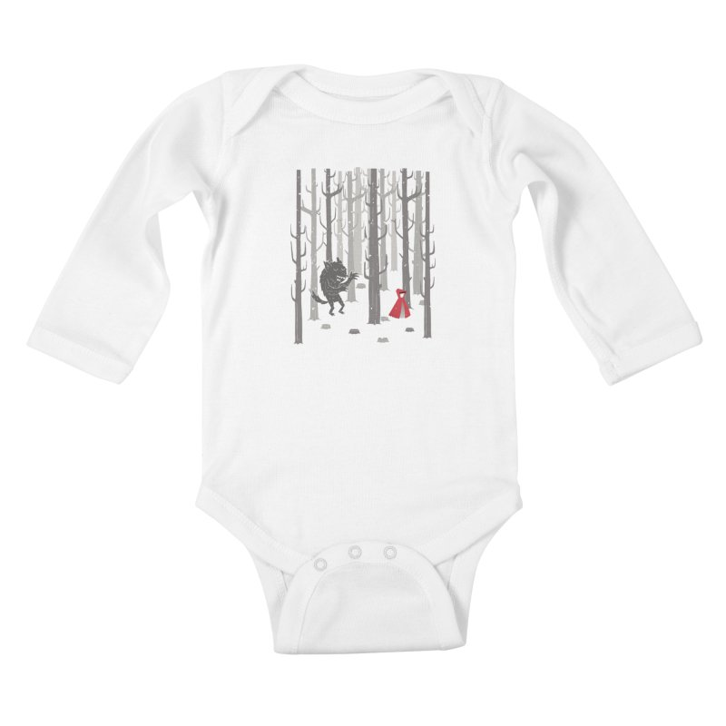 Beware of the wolf Kids Baby Longsleeve Bodysuit by Rocket Artist Shop