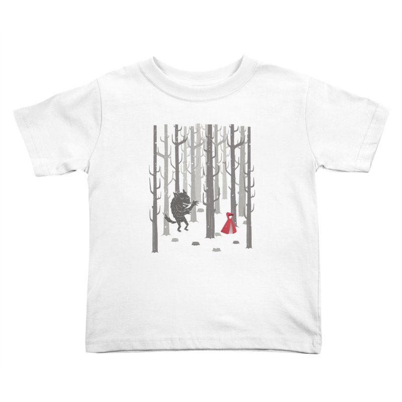 Beware of the wolf Kids Toddler T-Shirt by Rocket Artist Shop