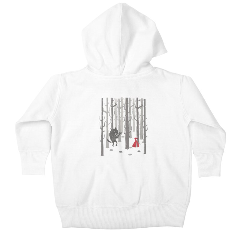 Beware of the wolf Kids Baby Zip-Up Hoody by Rocket Artist Shop
