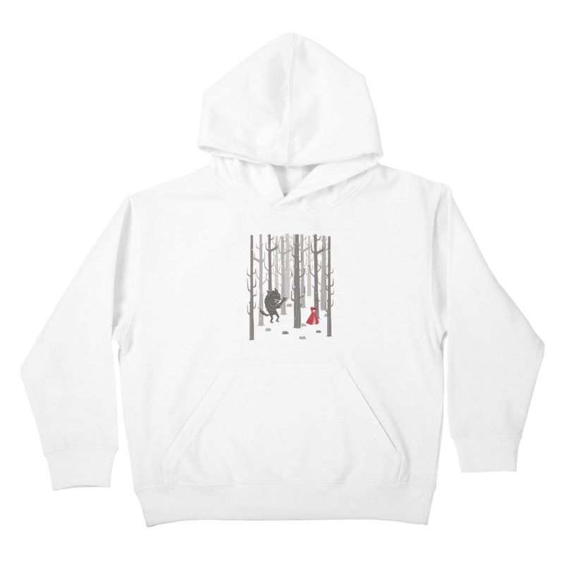 Beware of the wolf Kids Pullover Hoody by Rocket Artist Shop