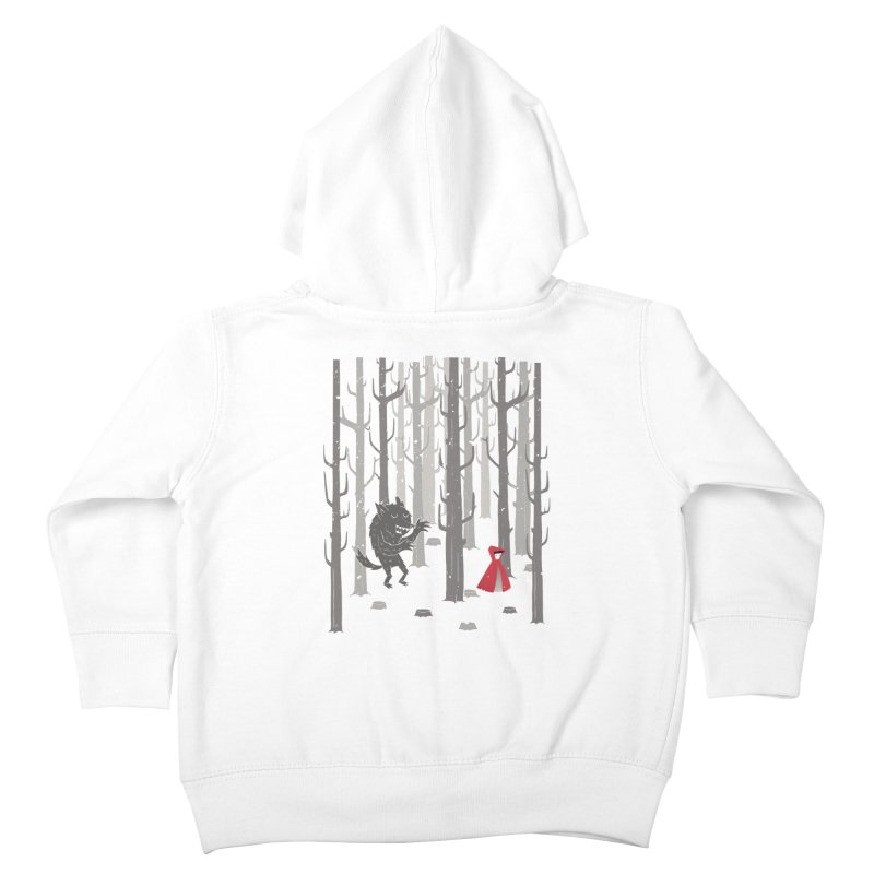 Beware of the wolf Kids Toddler Zip-Up Hoody by Rocket Artist Shop