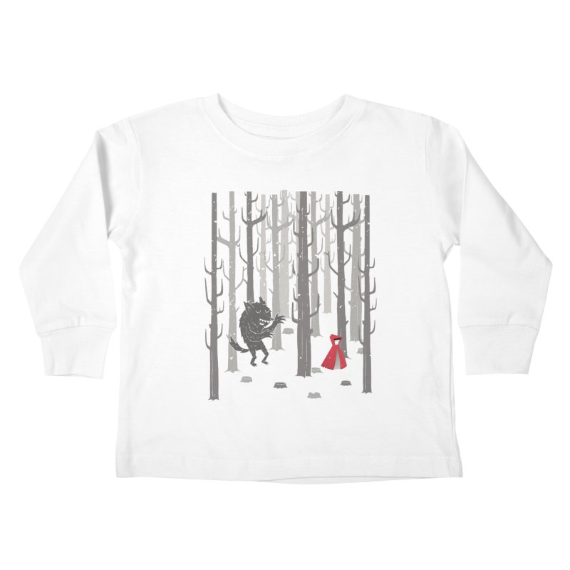 Beware of the wolf Kids Toddler Longsleeve T-Shirt by Rocket Artist Shop
