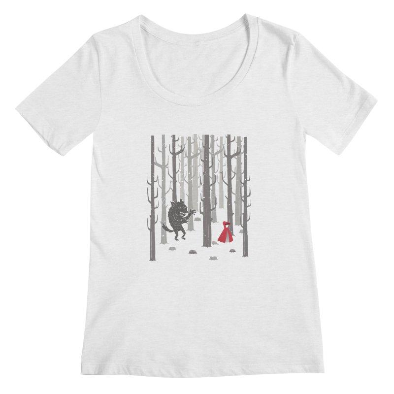 Beware of the wolf Women's Scoopneck by Rocket Artist Shop