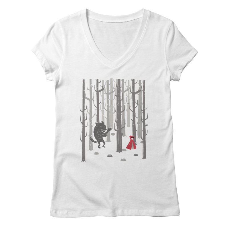 Beware of the wolf Women's V-Neck by Rocket Artist Shop