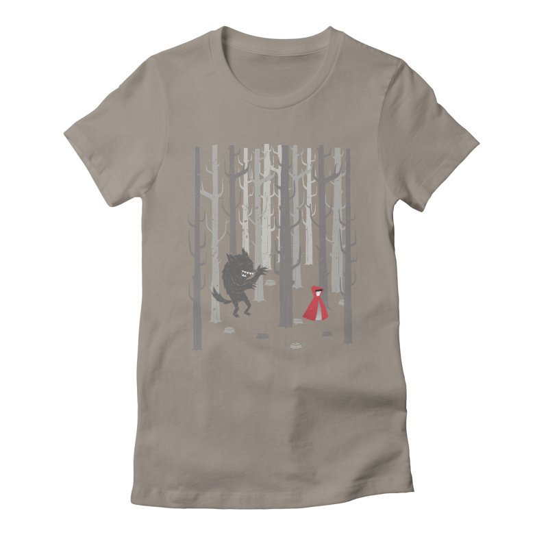 Beware of the wolf Women's Fitted T-Shirt by Rocket Artist Shop