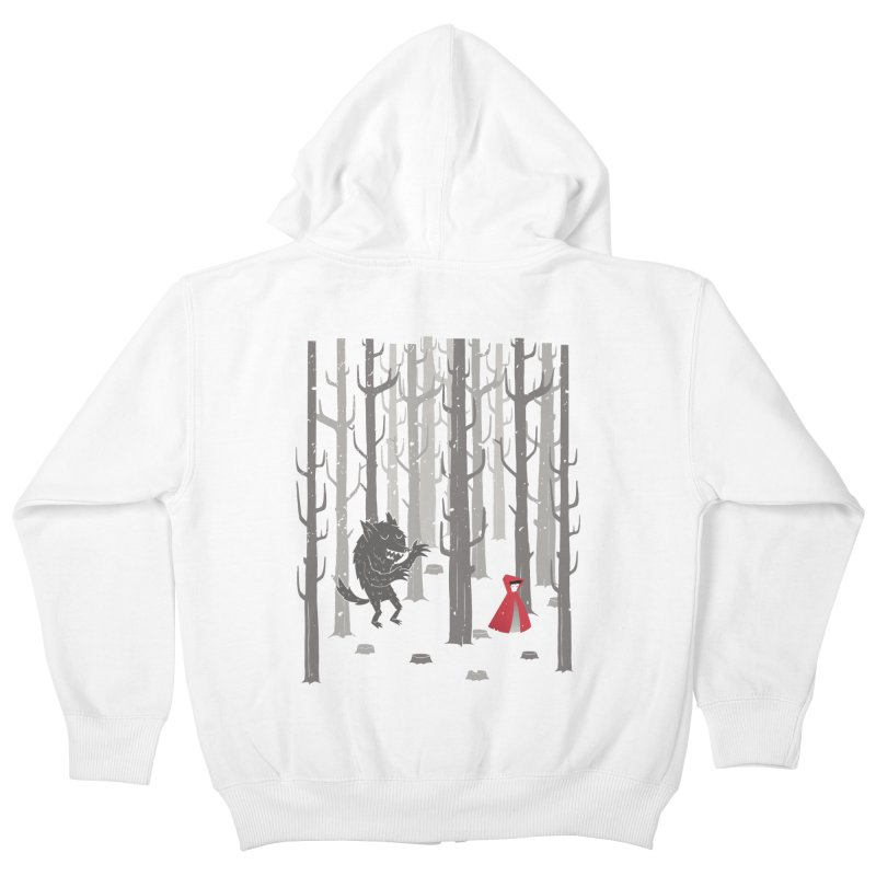 Beware of the wolf Kids Zip-Up Hoody by Rocket Artist Shop
