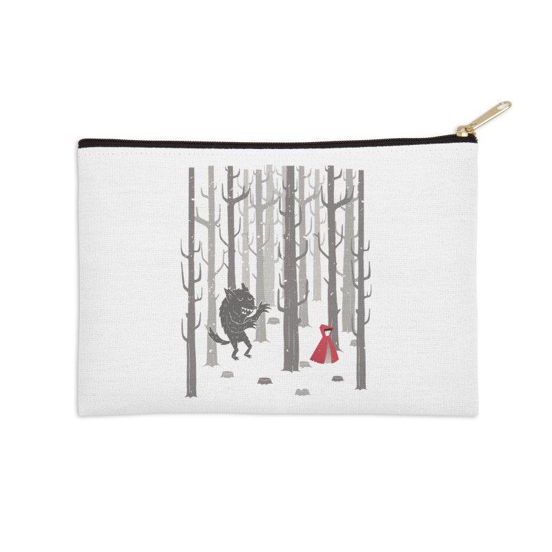 Beware of the wolf Accessories Zip Pouch by Rocket Artist Shop