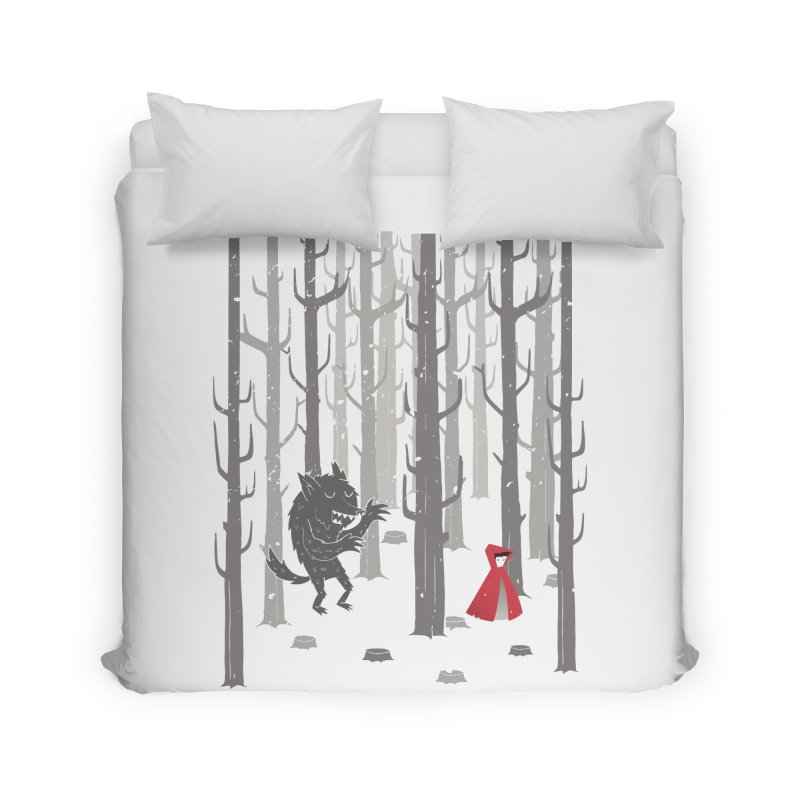 Beware of the wolf Home Duvet by Rocket Artist Shop
