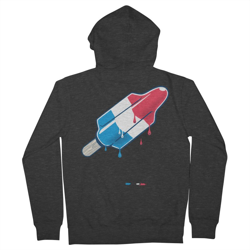 Drops Men's Zip-Up Hoody by Rocket Artist Shop