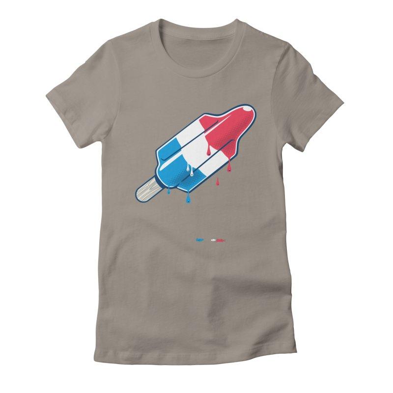 Drops Women's Fitted T-Shirt by Rocket Artist Shop