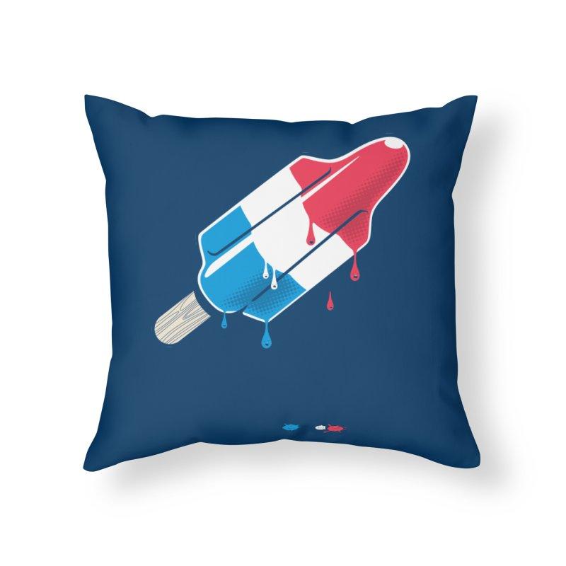 Drops Home Throw Pillow by Rocket Artist Shop