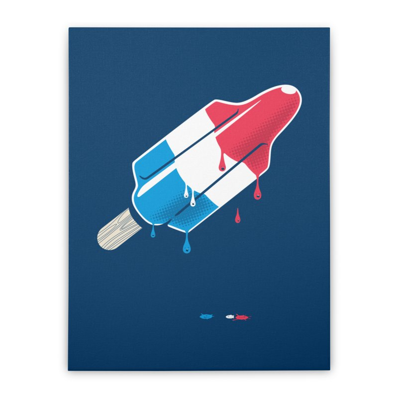 Drops Home Stretched Canvas by Rocket Artist Shop