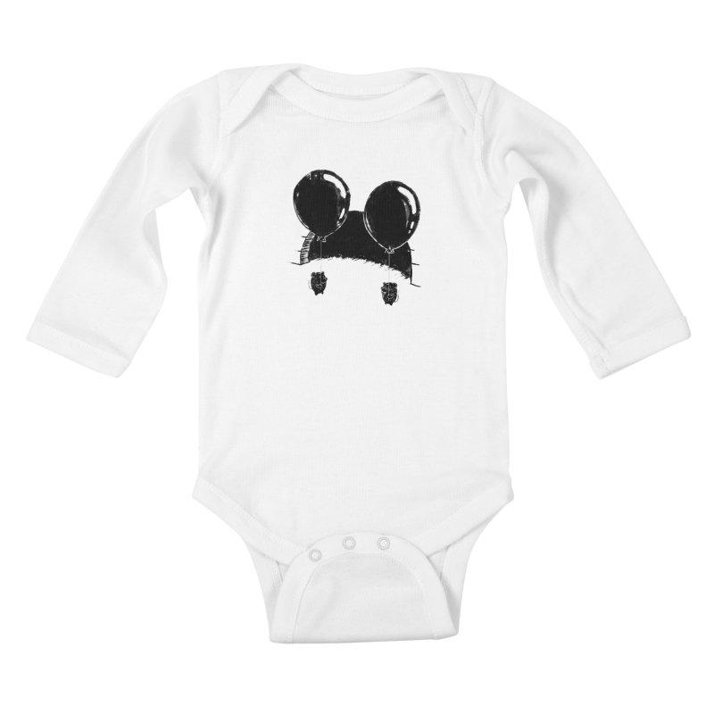 M.M. Kids Baby Longsleeve Bodysuit by Rocket Artist Shop