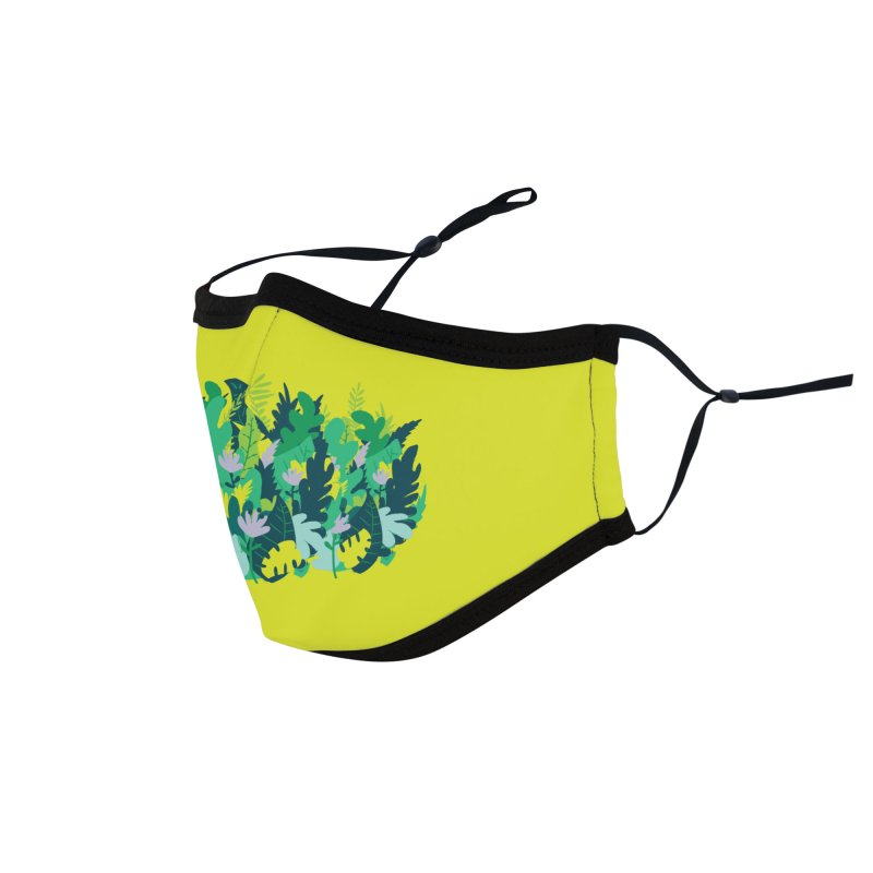 IN THE JUNGLE Accessories Face Mask by Rocket Artist Shop
