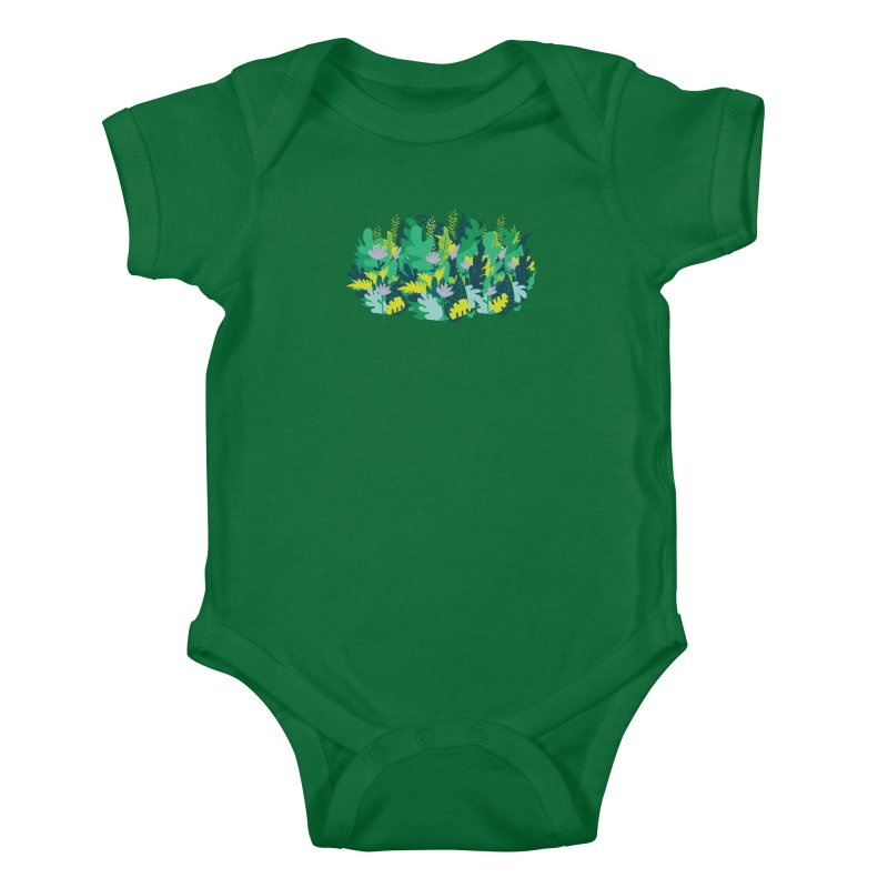 IN THE JUNGLE Kids Baby Bodysuit by Rocket Artist Shop