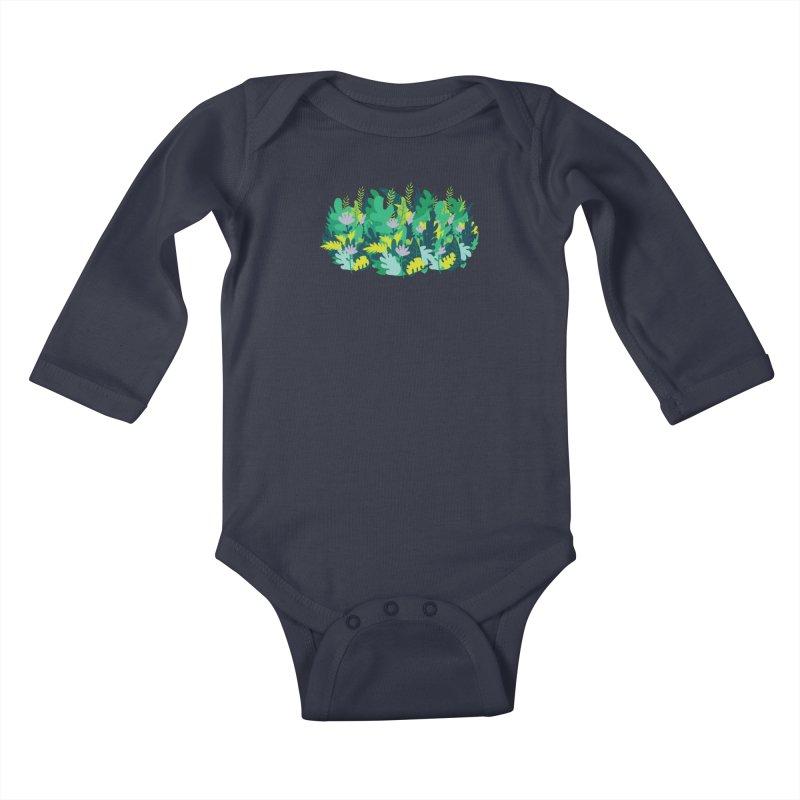 IN THE JUNGLE Kids Baby Longsleeve Bodysuit by Rocket Artist Shop