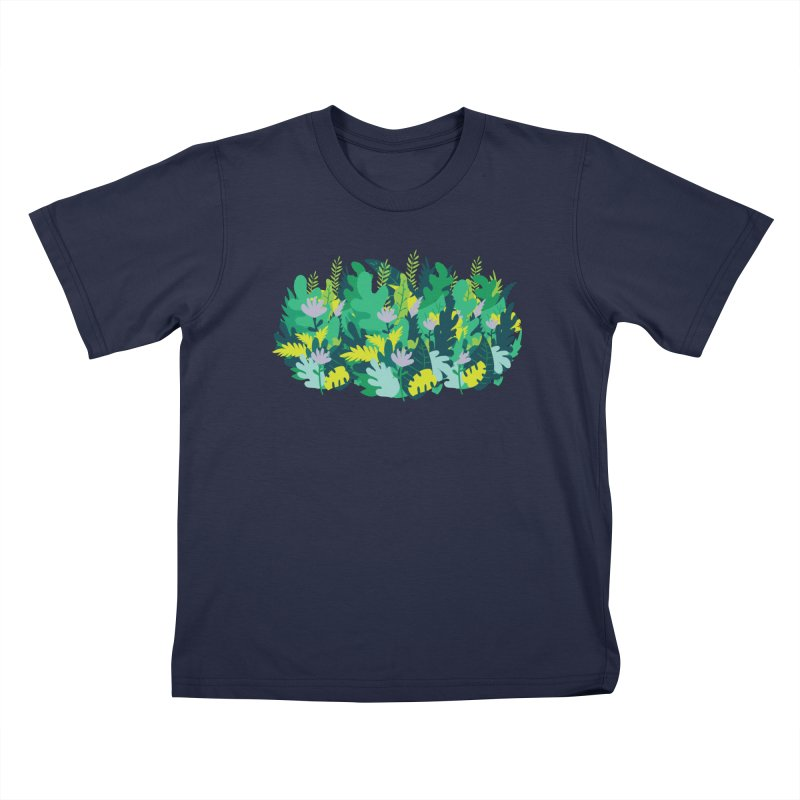 IN THE JUNGLE Kids T-Shirt by Rocket Artist Shop