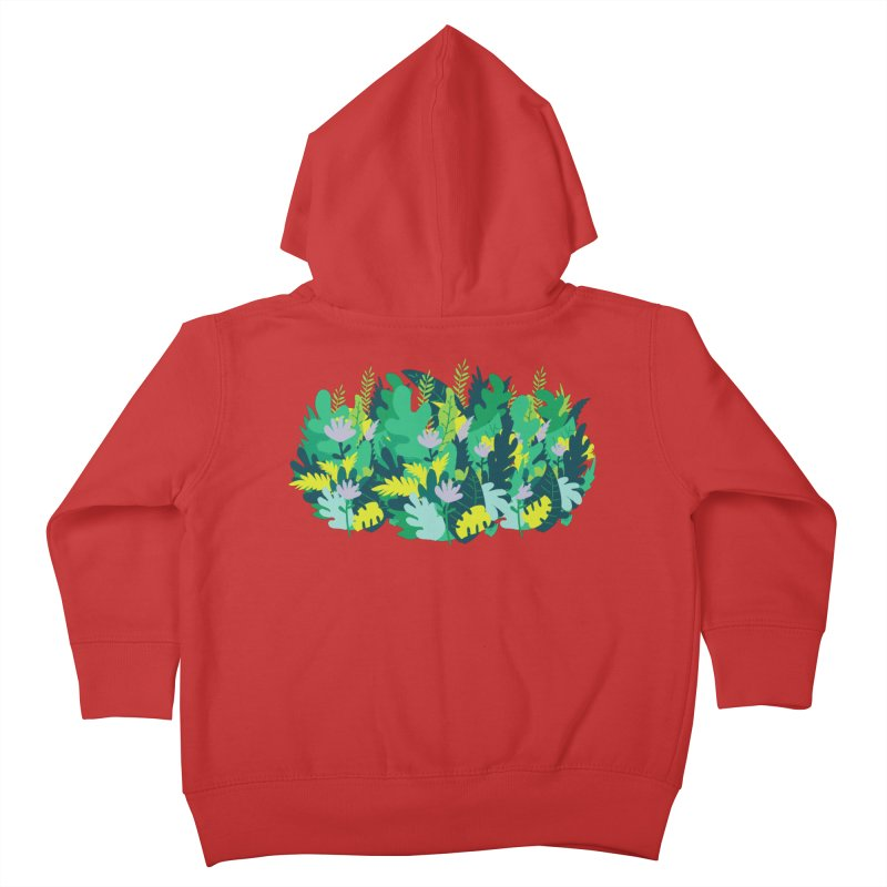 IN THE JUNGLE Kids Toddler Zip-Up Hoody by Rocket Artist Shop