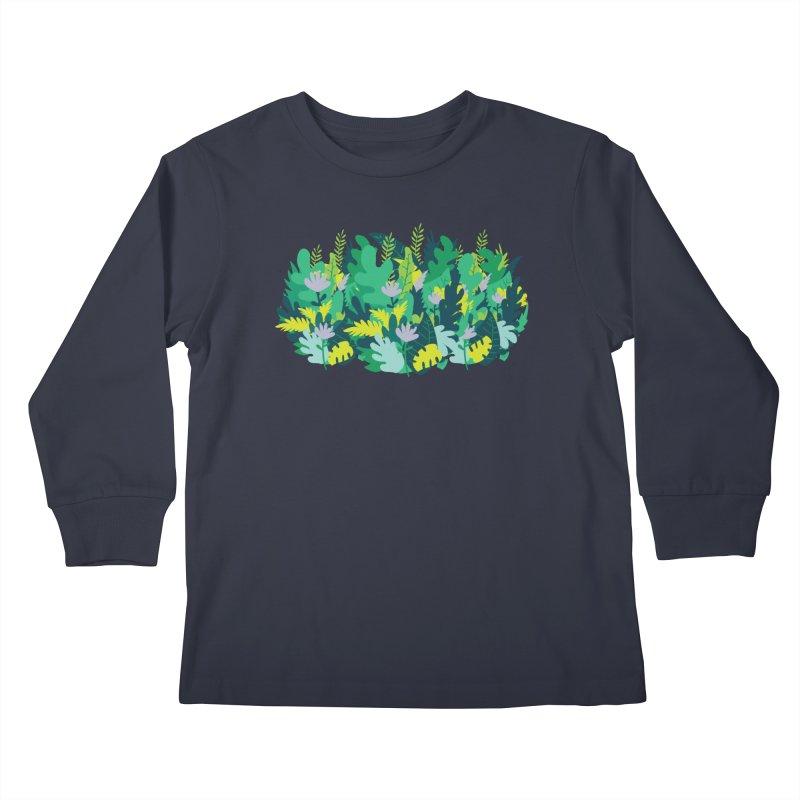 IN THE JUNGLE Kids Longsleeve T-Shirt by Rocket Artist Shop