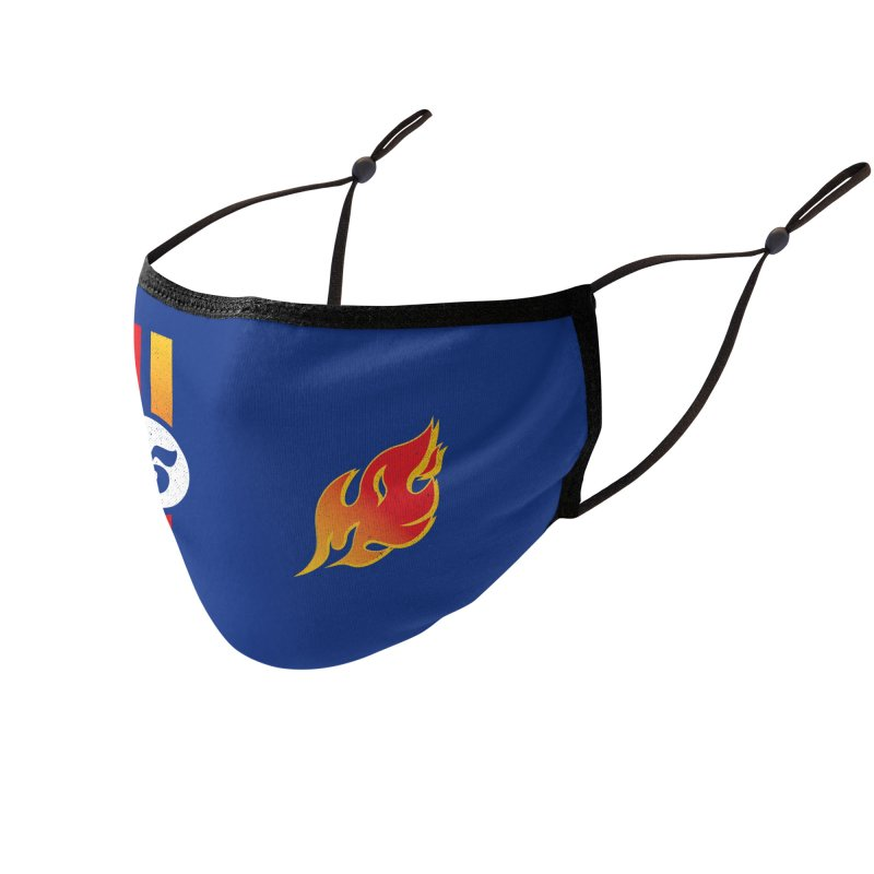 ON FIRE Accessories Face Mask by Rocket Artist Shop