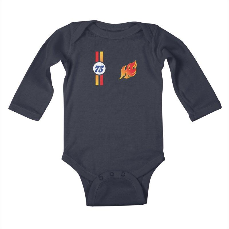 ON FIRE Kids Baby Longsleeve Bodysuit by Rocket Artist Shop