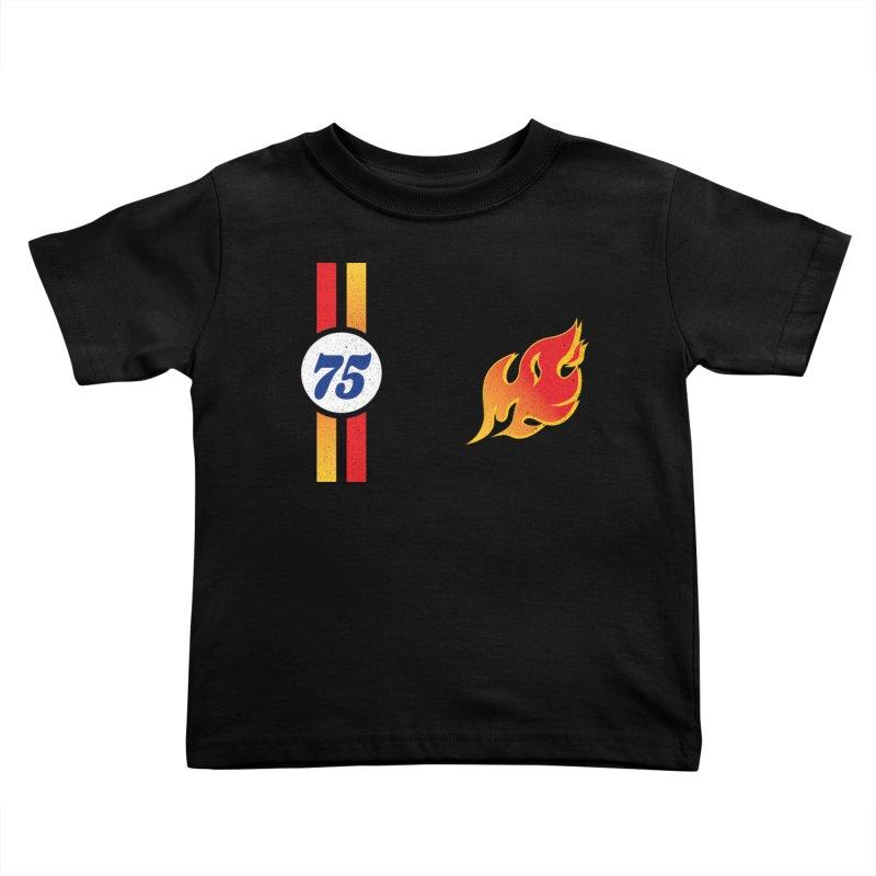 ON FIRE Kids Toddler T-Shirt by Rocket Artist Shop