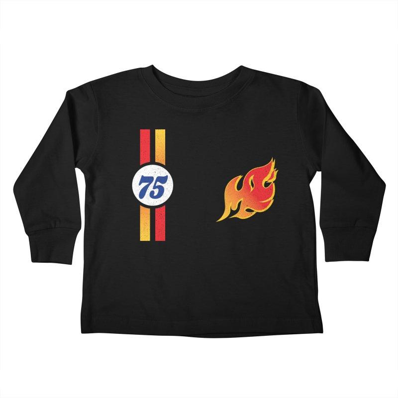 ON FIRE Kids Toddler Longsleeve T-Shirt by Rocket Artist Shop