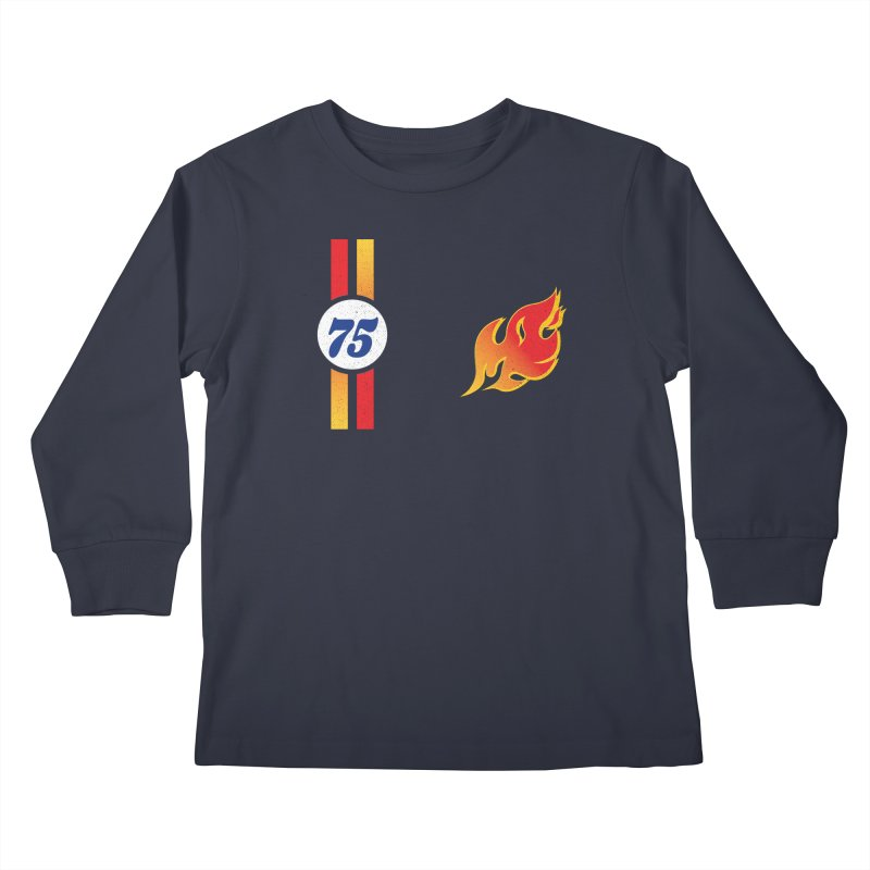 ON FIRE Kids Longsleeve T-Shirt by Rocket Artist Shop