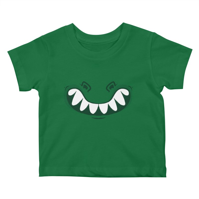 crocosmile Kids Baby T-Shirt by Rocket Artist Shop