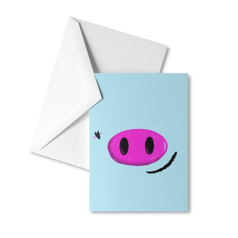 Piggy Accessories Greeting Card by Rocket Artist Shop