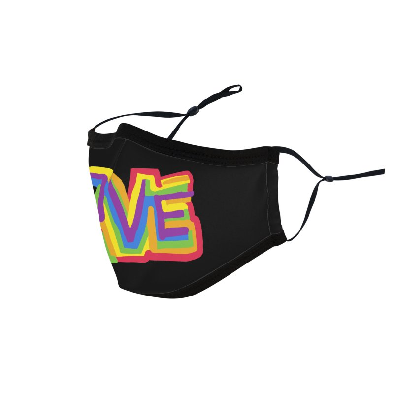 RAINBOW LOVE Accessories Face Mask by Rocket Artist Shop