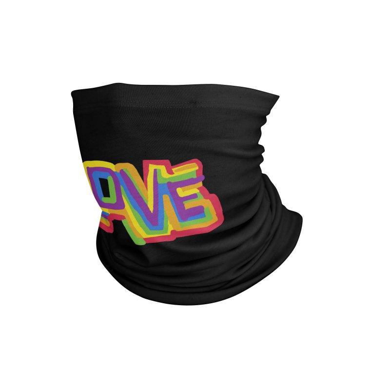 RAINBOW LOVE Accessories Neck Gaiter by Rocket Artist Shop