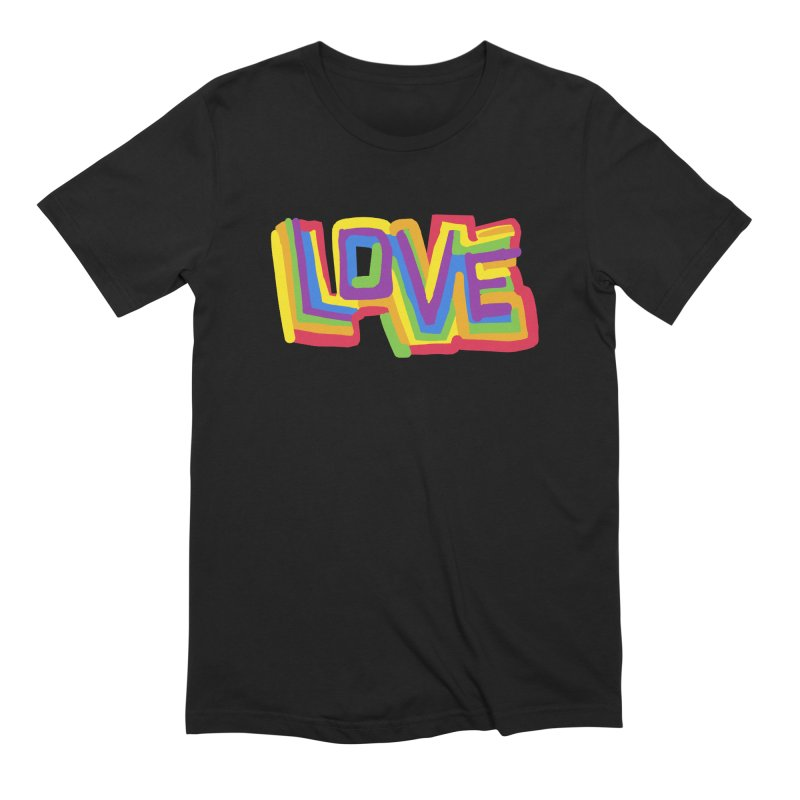 RAINBOW LOVE Men's T-Shirt by Rocket Artist Shop