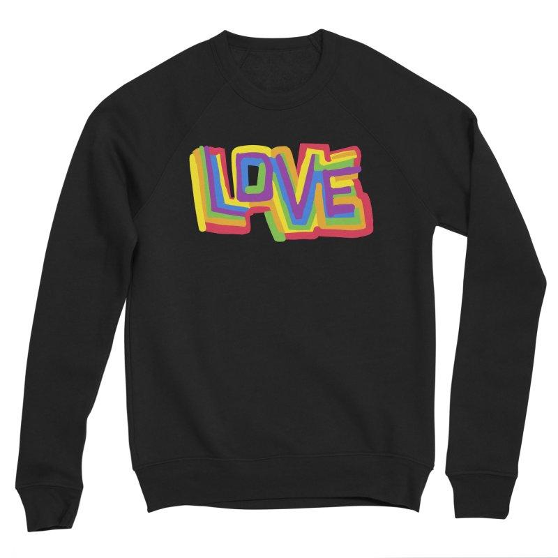 RAINBOW LOVE Men's Sweatshirt by Rocket Artist Shop