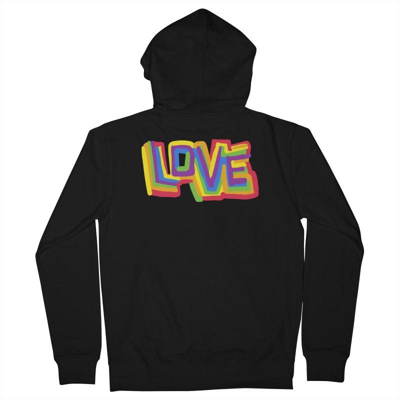 RAINBOW LOVE Men's Zip-Up Hoody by Rocket Artist Shop