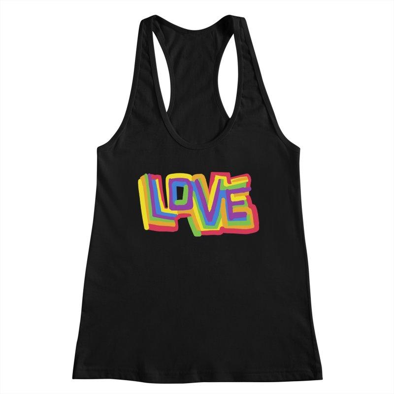 RAINBOW LOVE Women's Tank by Rocket Artist Shop