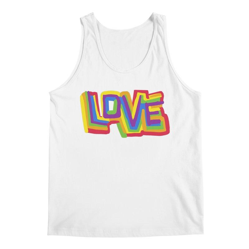 RAINBOW LOVE Men's Tank by Rocket Artist Shop
