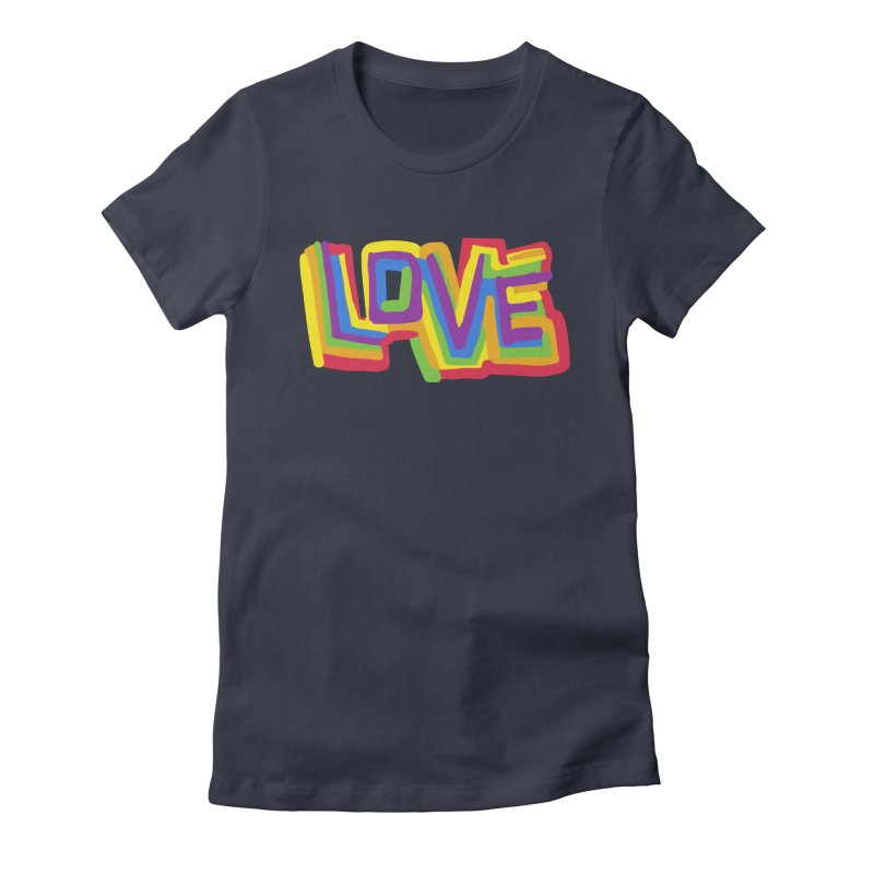 RAINBOW LOVE Women's T-Shirt by Rocket Artist Shop