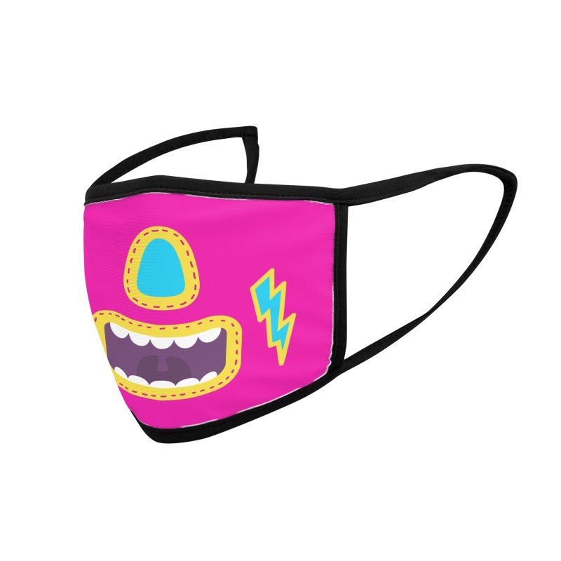 LUCHA PINK Accessories Face Mask by Rocket Artist Shop