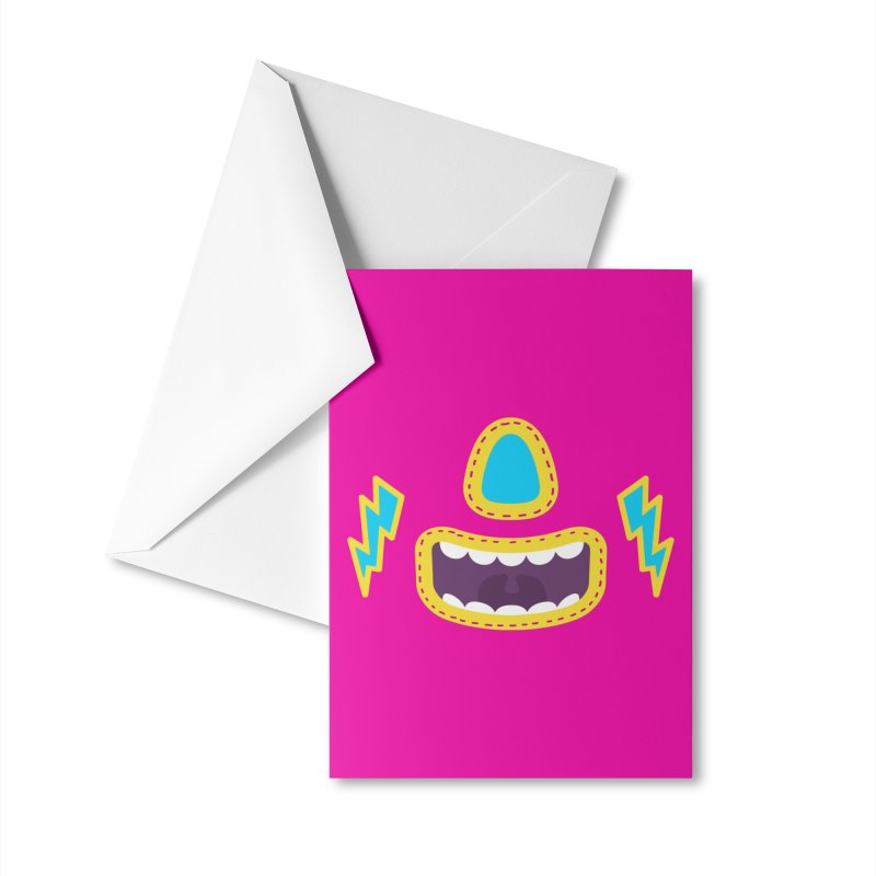 LUCHA PINK Accessories Greeting Card by Rocket Artist Shop