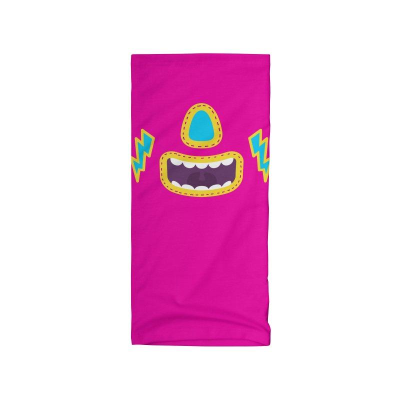 LUCHA PINK Accessories Neck Gaiter by Rocket Artist Shop
