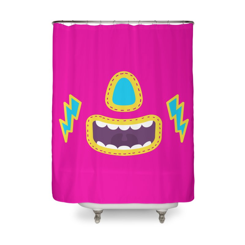 LUCHA PINK Home Shower Curtain by Rocket Artist Shop