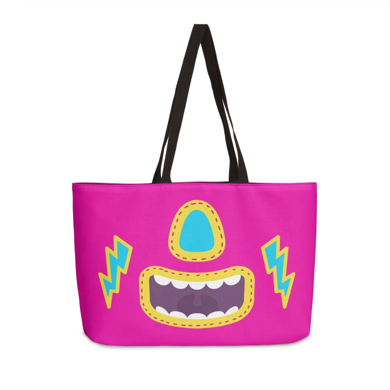 LUCHA PINK Accessories Bag by Rocket Artist Shop