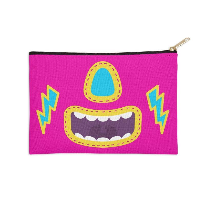 LUCHA PINK Accessories Zip Pouch by Rocket Artist Shop