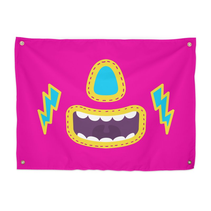 LUCHA PINK Home Tapestry by Rocket Artist Shop