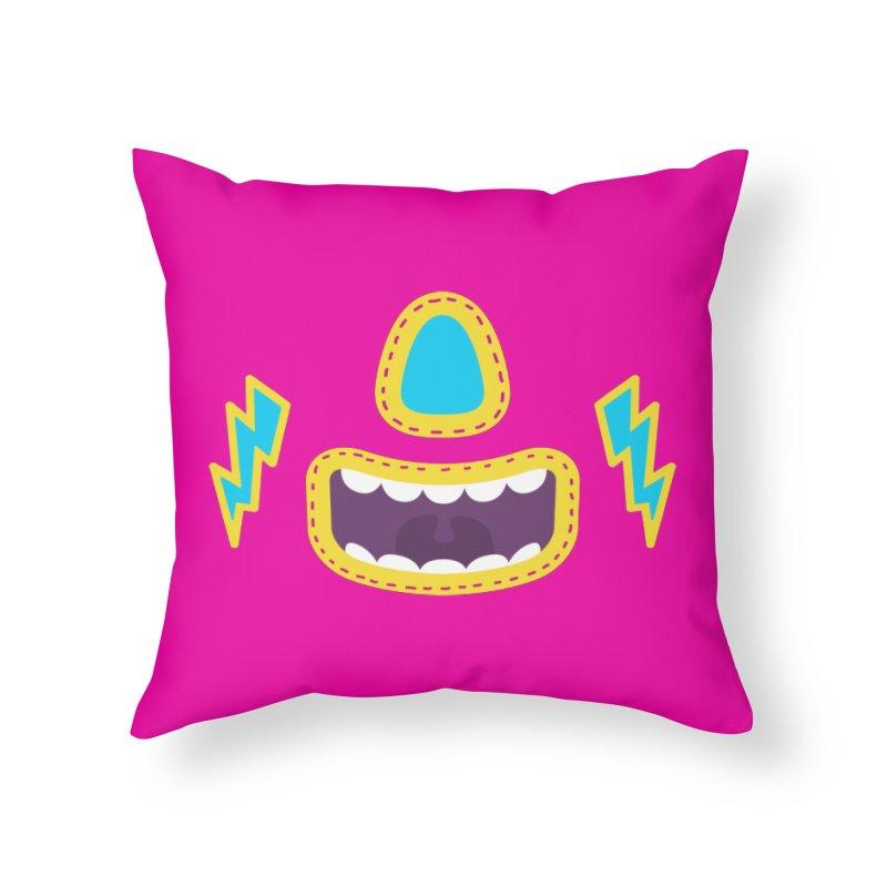 LUCHA PINK Home Throw Pillow by Rocket Artist Shop