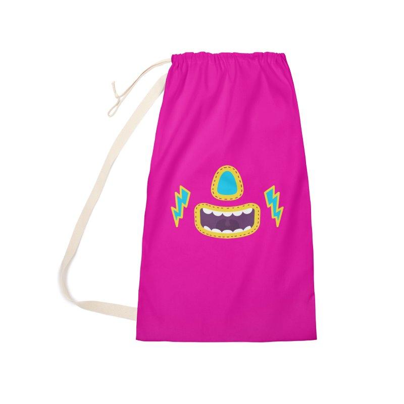 LUCHA PINK Accessories Bag by Rocket Artist Shop