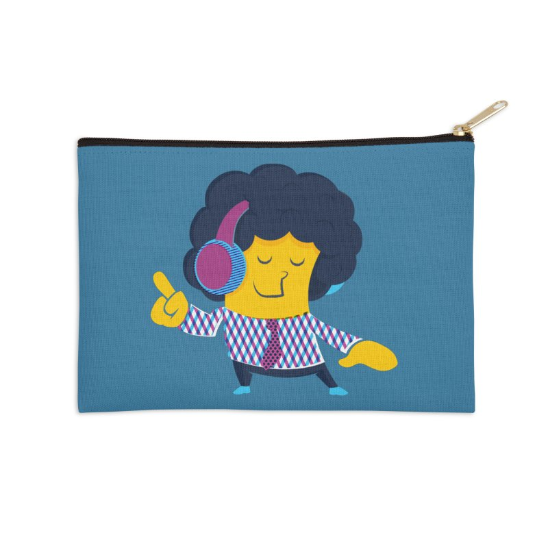 Good Vibes Accessories Zip Pouch by Rocket Artist Shop