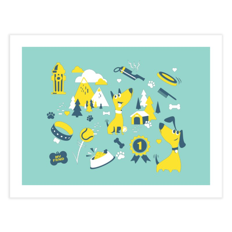 DogLover Home Fine Art Print by Rocket Artist Shop