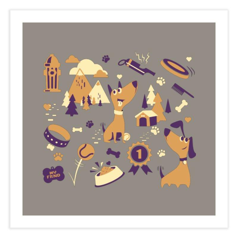 DogLover v2 Home Fine Art Print by Rocket Artist Shop
